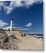 Crisp Point Lighthouse 18 Metal Print