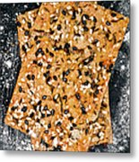 Crispbread With Thyme On Metal Sheet Metal Print