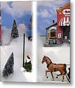 Christmas Decoration - Gently Cross Your Eyes And Focus On The Middle Image Metal Print