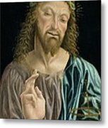 Cristo Salvator Mundi, C.1490-94 Metal Print