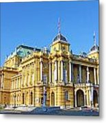 Croatian National Theater In Zagreb Metal Print