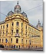 Croatian Railways Administration Building In Zagreb  Metal Print
