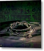Croc Splash Metal Print