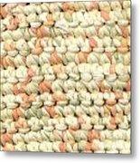 Crochet Rag Rug In Pastel Colours Metal Print