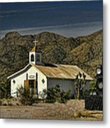 Crooked Creek Chapel Metal Print