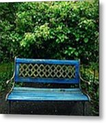 Crooked Little Bench Metal Print