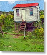 Crooked Little House - Orange Cats Metal Print