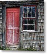 Crooked Red Door Metal Print