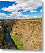 Crooked River Canyon And Bridge Metal Print