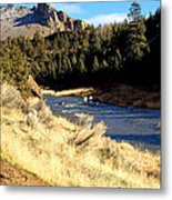 Crooked River December Morning Metal Print