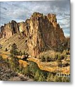 Crooked River Towers Metal Print