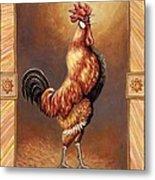 Crooner The Rooster Metal Print