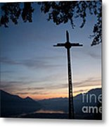 Cross On The Mountain Metal Print