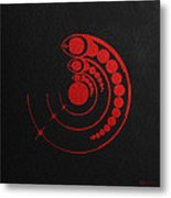 Crop Circle Formation Near Avebury Stone Circle In Wiltshire England In Red Metal Print