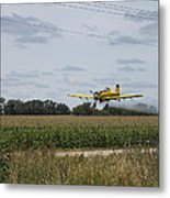 Crop Dusting 2 Metal Print by Victoria Sheldon