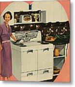 Crosleys  1950s Uk Cookers Kitchens Metal Print