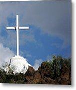 Cross At San Xavier - Tucson Metal Print