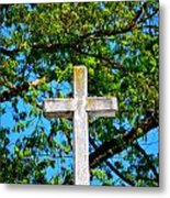 Cross At The Monastery Of The Holy Spirit Metal Print