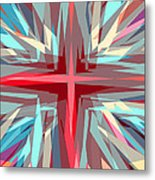 Cross Burst Metal Print
