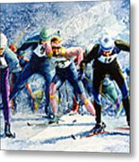 Cross-country Challenge Metal Print by Hanne Lore Koehler