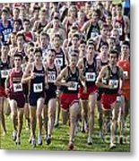Cross County Race Metal Print