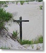 Cross In The Dunes Metal Print