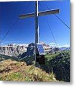 cross on Crepa Neigra peak Metal Print