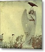 Cross Or Angel Metal Print