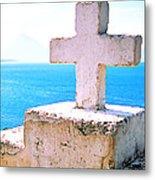 Cross Over Lake Atitlan Metal Print