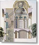 Cross Section Of The Pavilion Metal Print