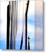 Cross Spire 5077 Metal Print