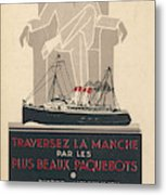 Cross The Channel In A  Passenger Metal Print