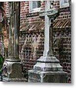 Cross Tombstone Metal Print