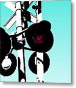 Crossed Metal Print