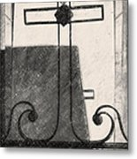 Crosses Voided Wrought Iron _ Nola Metal Print