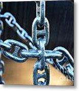 Crossing Chains Metal Print