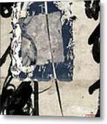 Crossing Indigo Metal Print