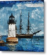Crossing Into The Harbor Metal Print
