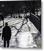 Crossing Over - Central Park - Nyc Metal Print