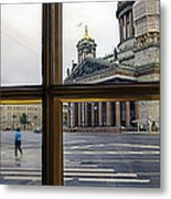 Crossing Over St. Basil Cathedral Metal Print