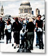 Crossing Over The Thames Metal Print