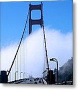 Crossing The Fog Metal Print