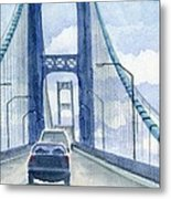 Crossing The Mackinac Metal Print