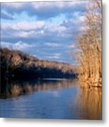 Crossing The River On Low Water Bridge Metal Print