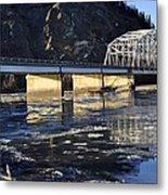 Crossing The Tanana River Metal Print