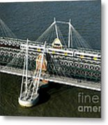 Crossing The Thames Metal Print