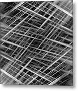 Mono Lines 3 Metal Print