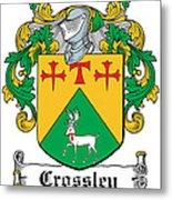 Crossley Coat Of Arms Irish Metal Print