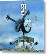 Crossroads In Clarksdale Metal Print