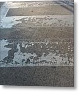 Crosswalk Shadow 1 Metal Print